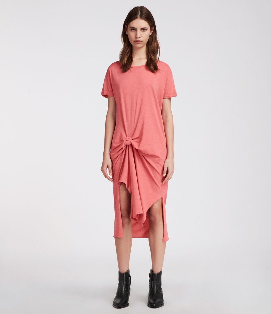 Womens T-rivi Ida Dress (coral_pink) - Image 1