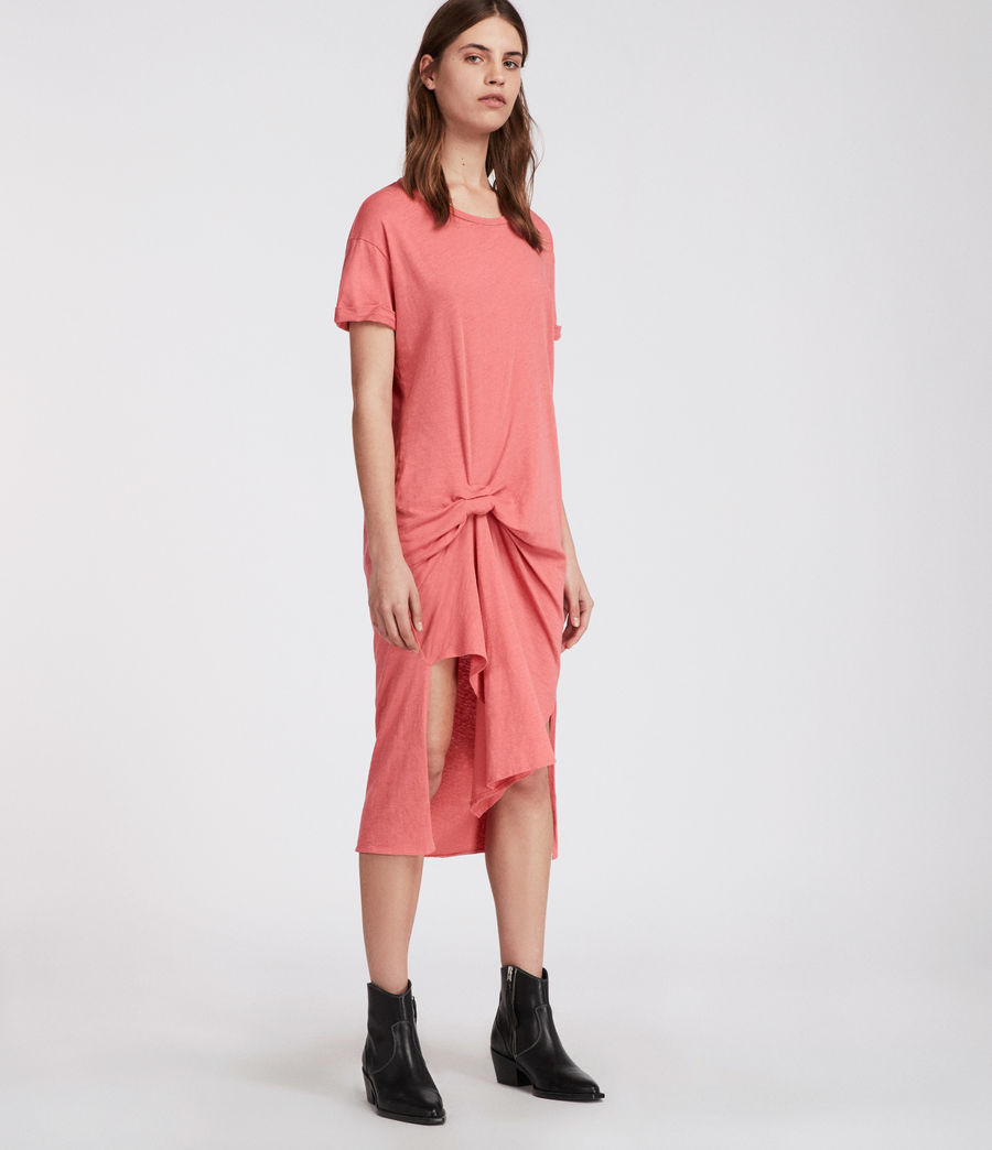 Womens T-rivi Ida Dress (coral_pink) - Image 3