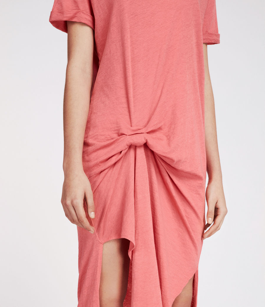 Womens T-rivi Ida Dress (coral_pink) - Image 4