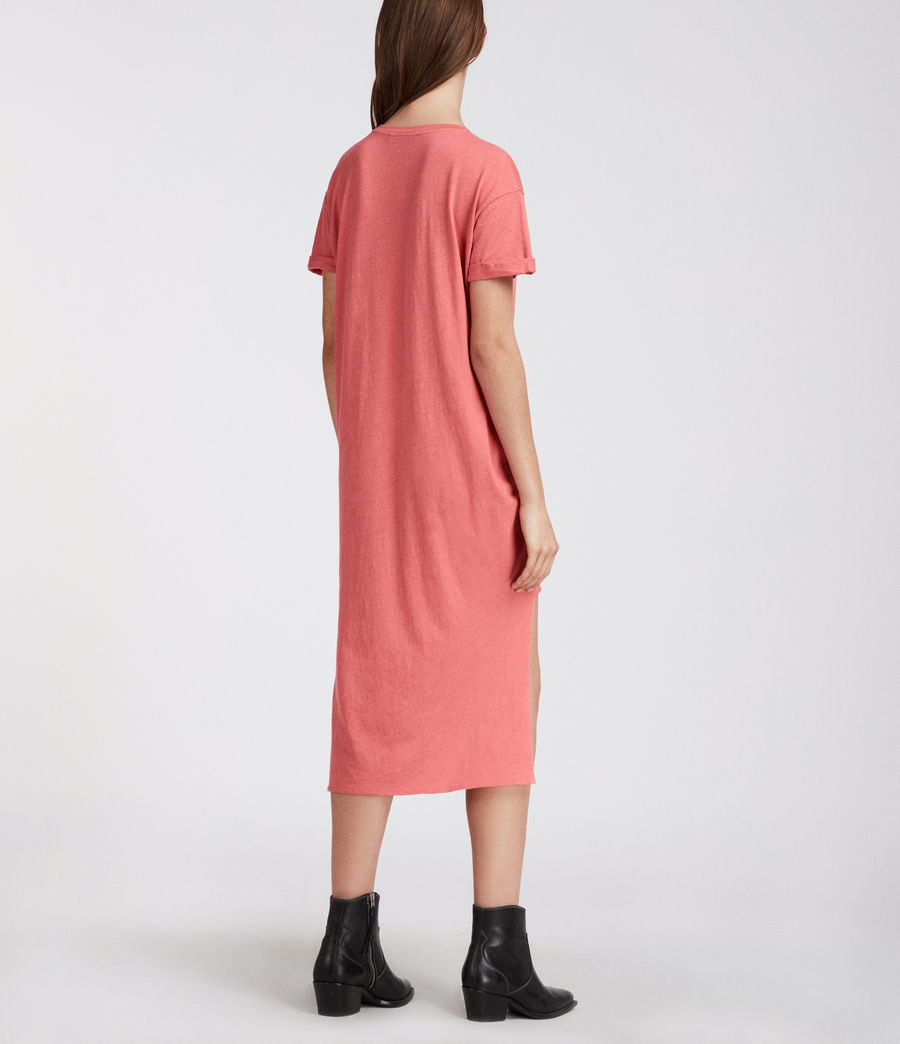 Womens T-rivi Ida Dress (coral_pink) - Image 5