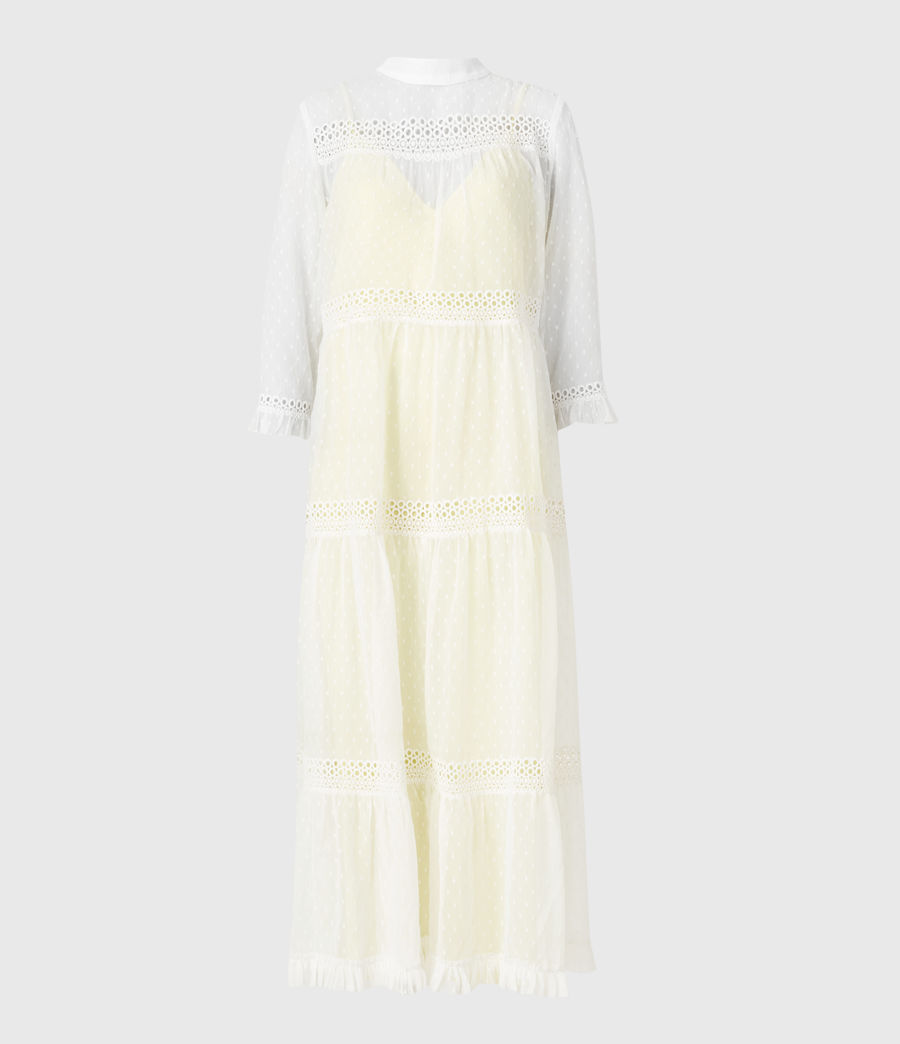 Damen Nima Dobby Dress (chalk_white_yellow) - Image 2