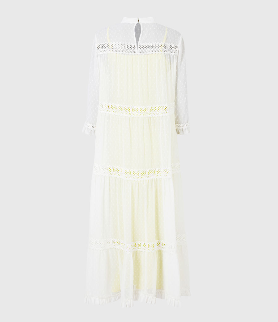 Damen Nima Dobby Dress (chalk_white_yellow) - Image 3