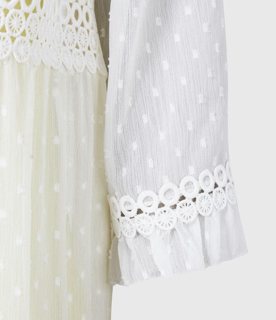 Damen Nima Dobby Dress (chalk_white_yellow) - Image 5