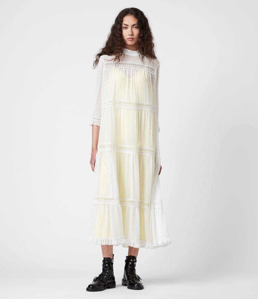 Damen Nima Dobby Dress (chalk_white_yellow) - Image 6