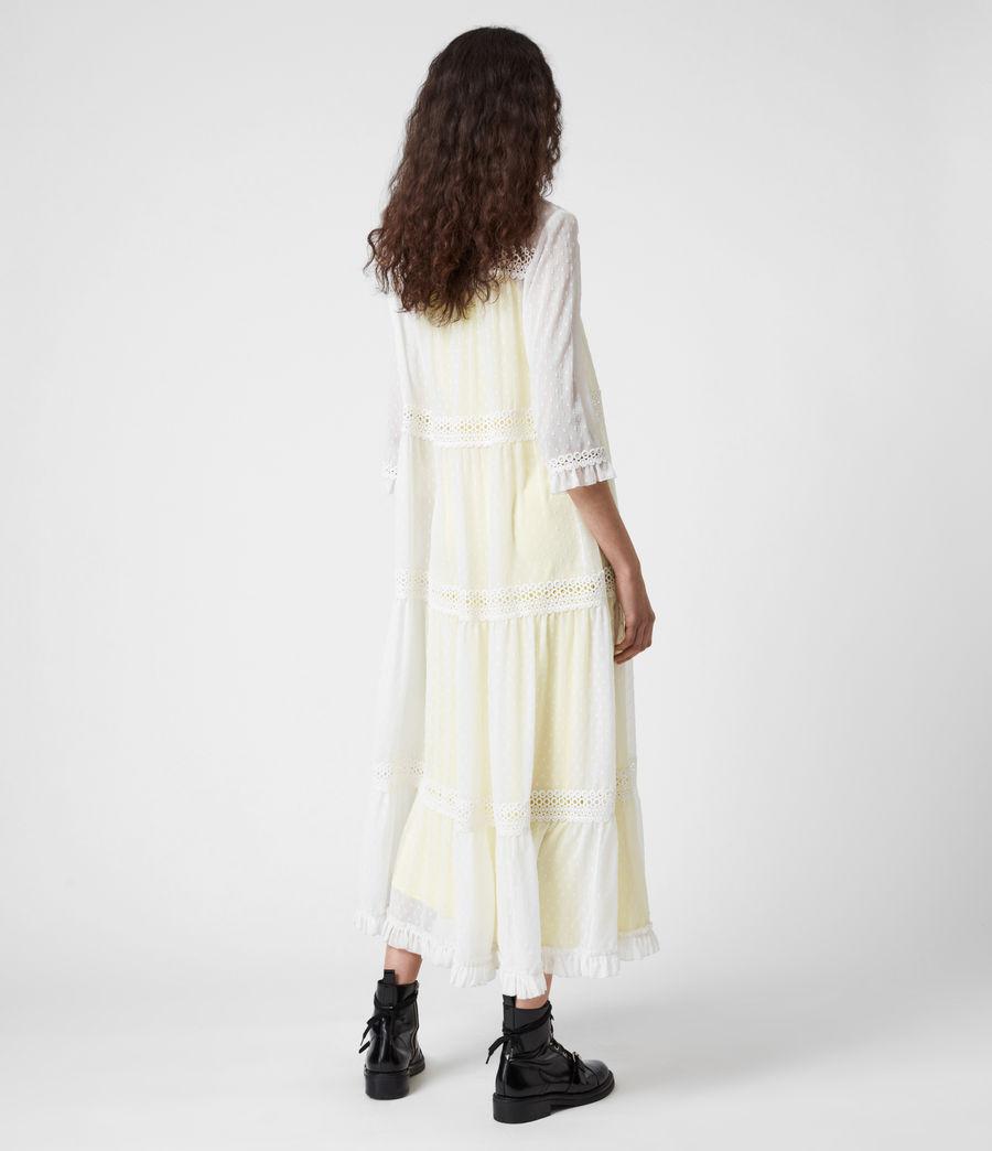 Damen Nima Dobby Dress (chalk_white_yellow) - Image 7