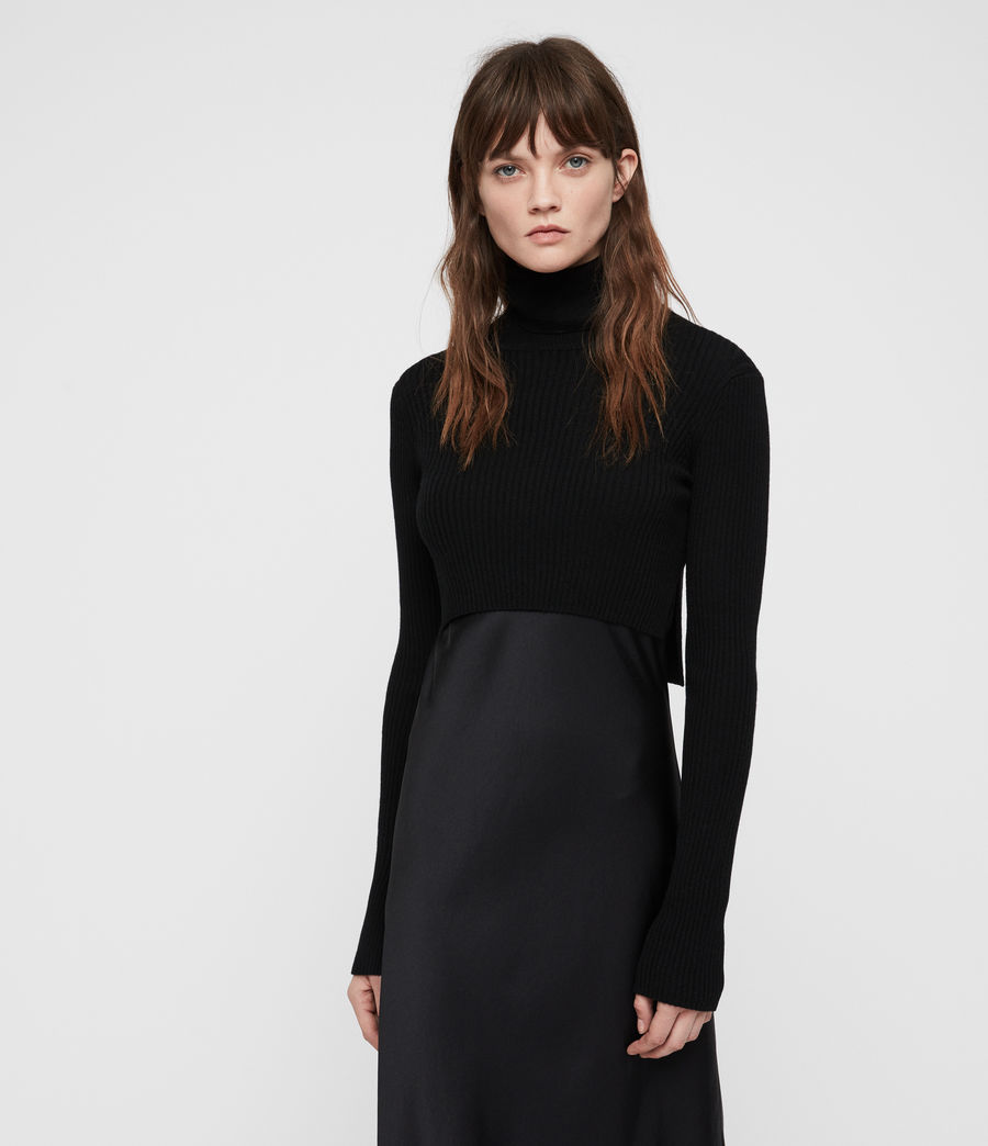 Womens Kowlo Roll Neck Dress (black) - Image 1