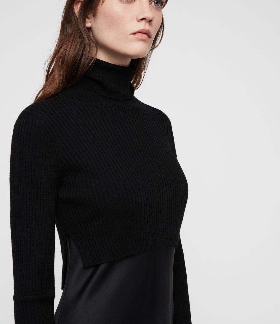 Damen Kowlo Rollkragen Kleid (black) - Image 2