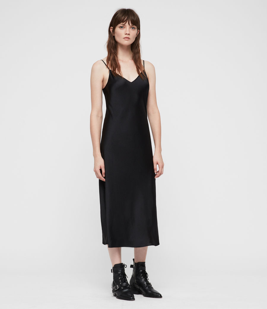Womens Kowlo Roll Neck Dres (black) - Image 3