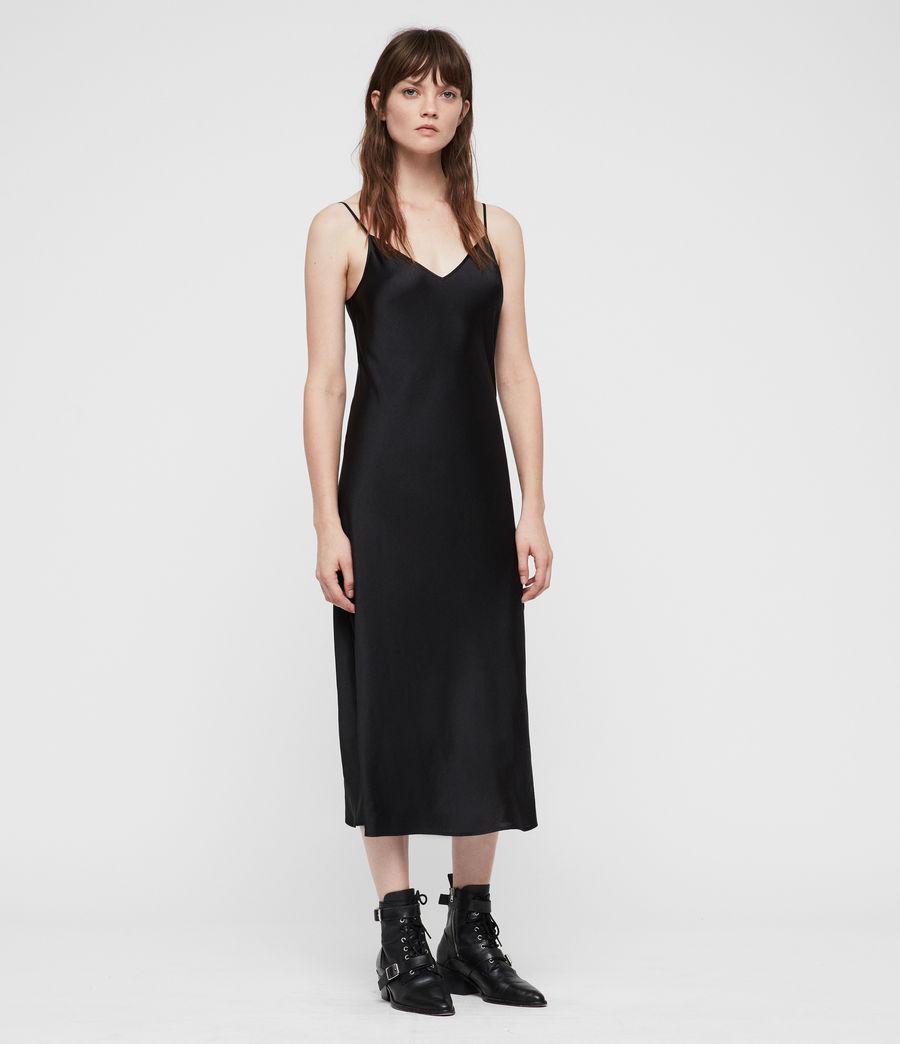 Damen Kowlo Rollkragen Kleid (black) - Image 3