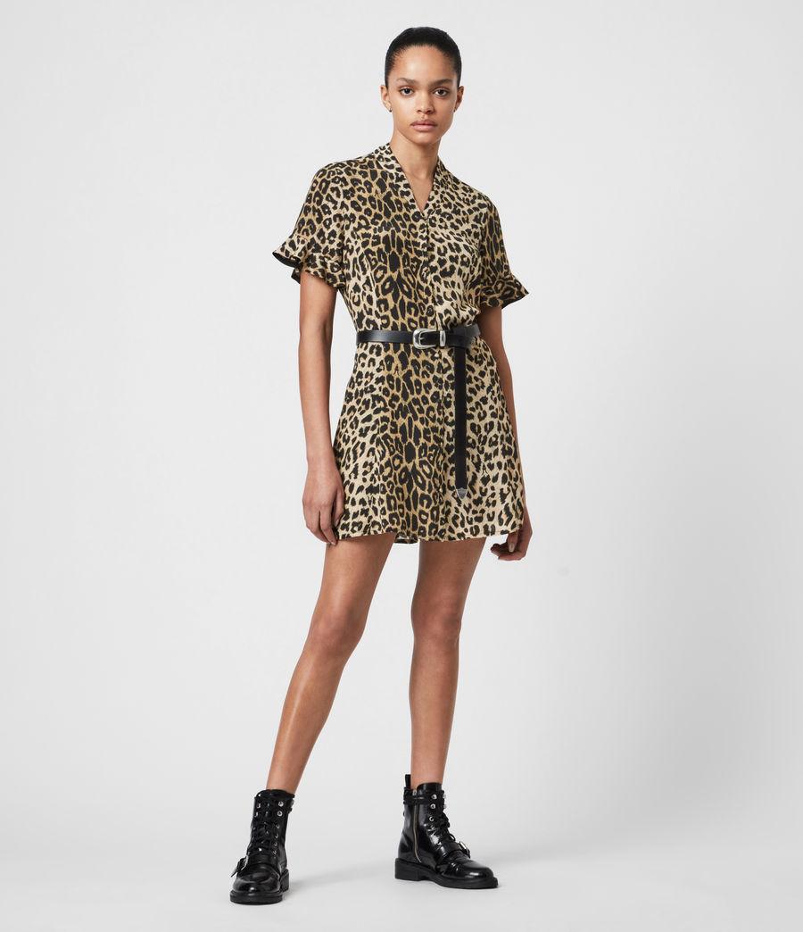 Womens Fay Leppo Dress (leopard_yellow) - Image 1
