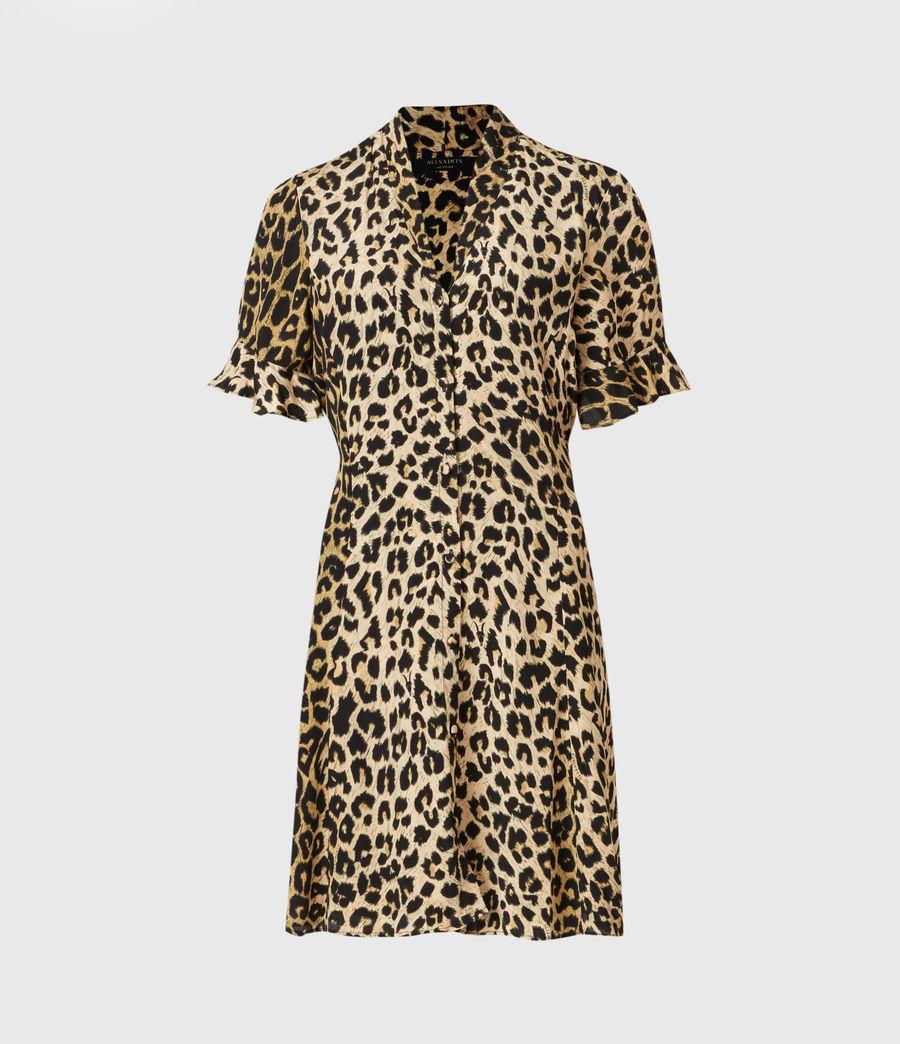 Womens Fay Leppo Dress (leopard_yellow) - Image 2