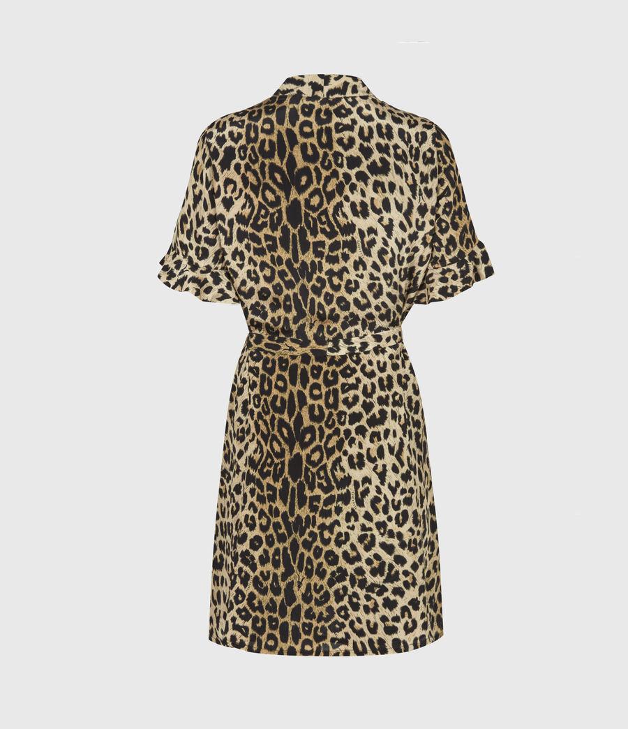 Womens Fay Leppo Dress (leopard_yellow) - Image 3