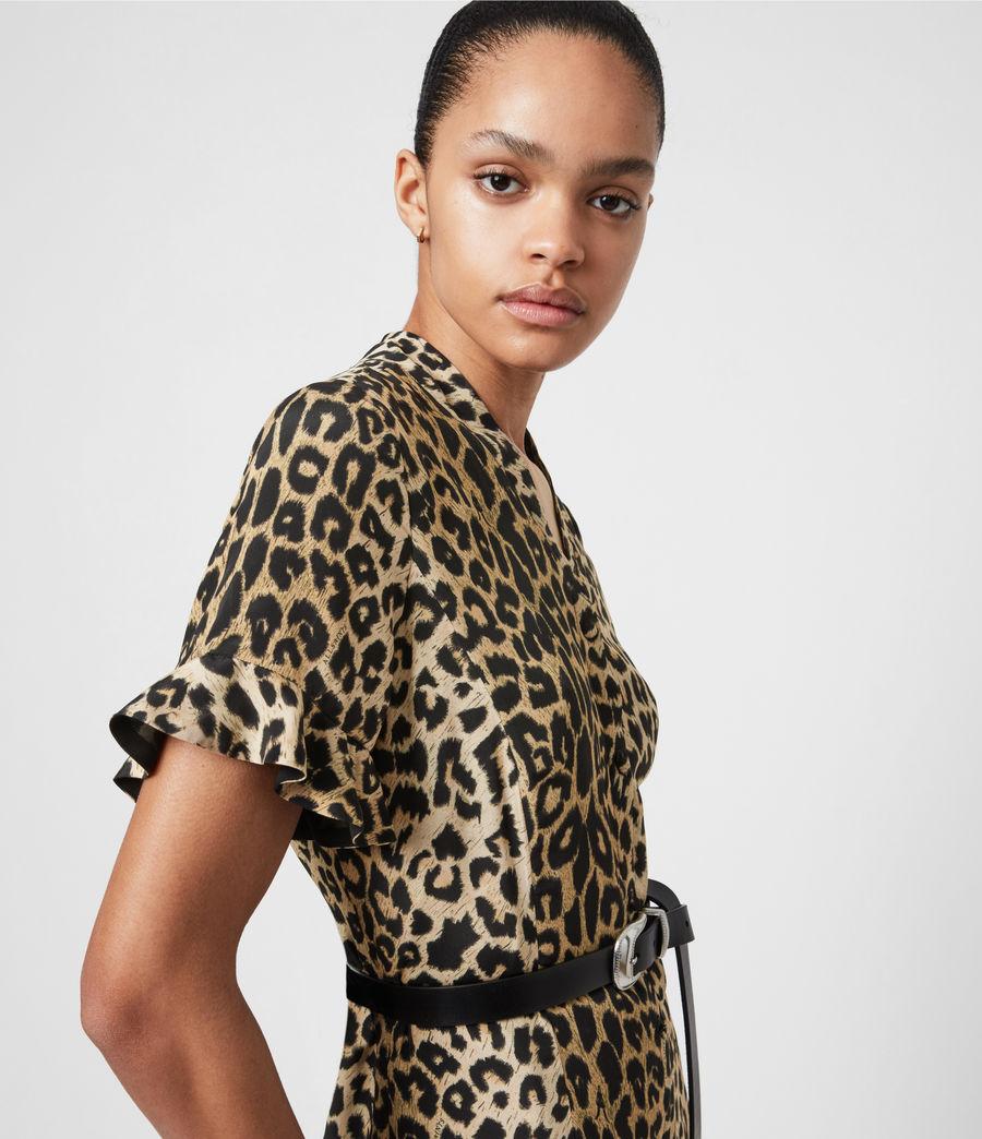 Womens Fay Leppo Dress (leopard_yellow) - Image 4