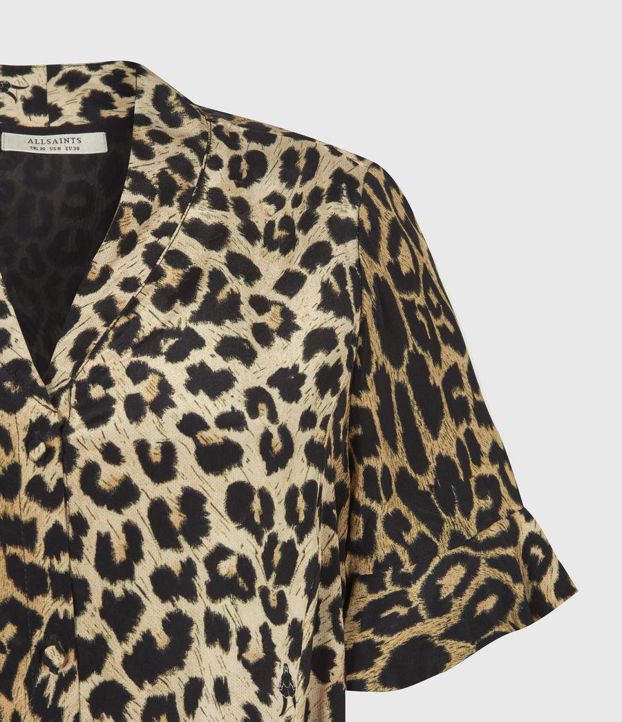 Womens Fay Leppo Dress (leopard_yellow) - Image 5