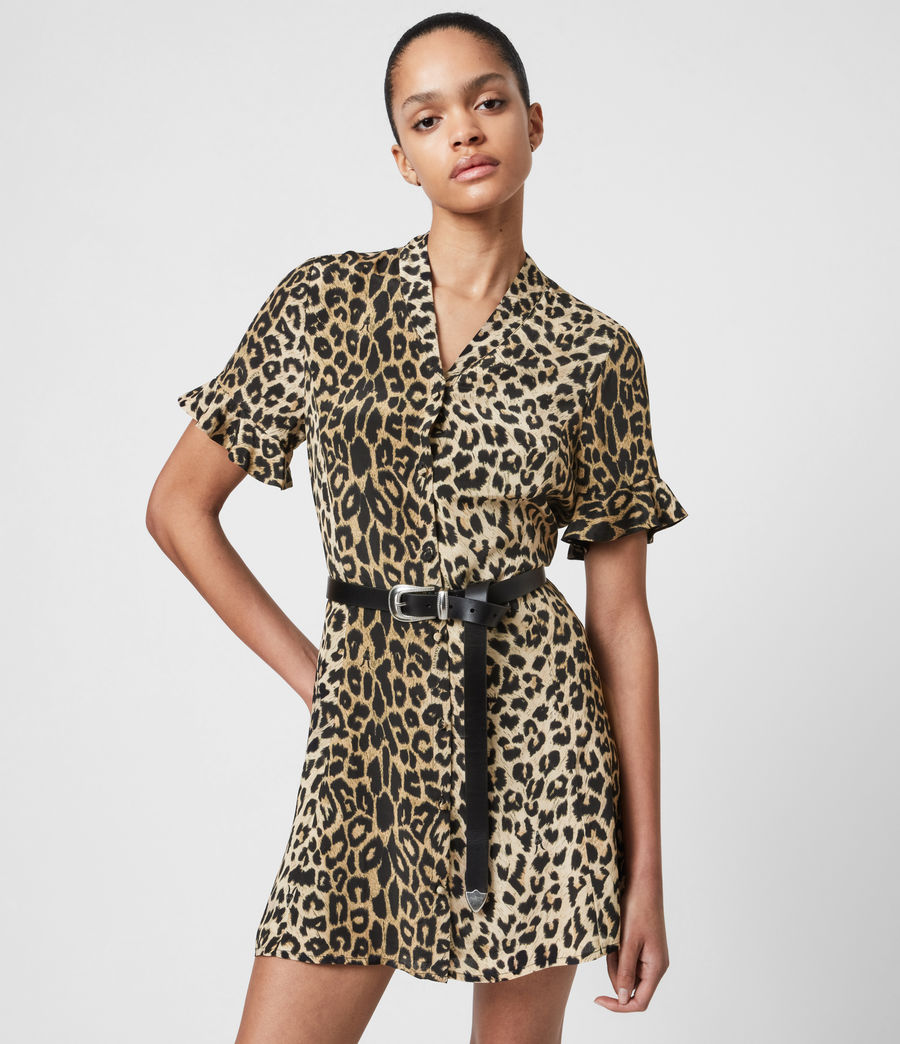 Womens Fay Leppo Dress (leopard_yellow) - Image 6