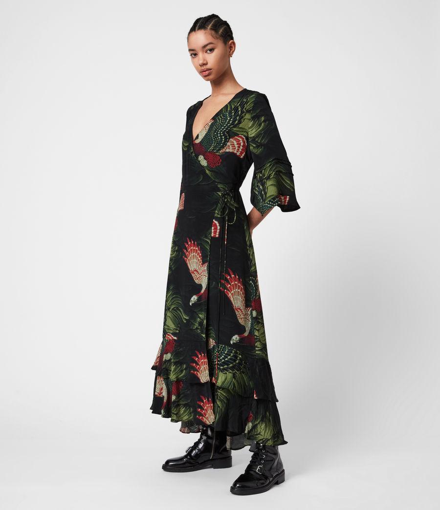Damen Delana Swoop Kleid (moss_green) - Image 1