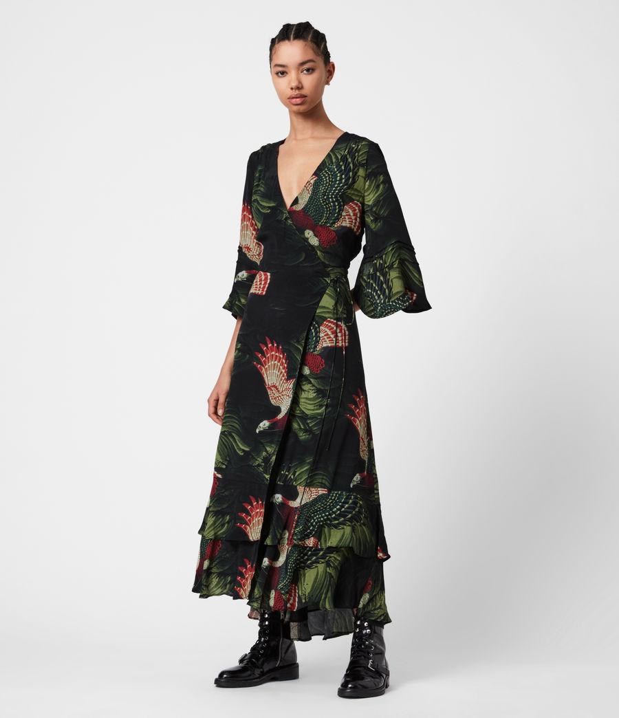 Damen Delana Swoop Kleid (moss_green) - Image 6