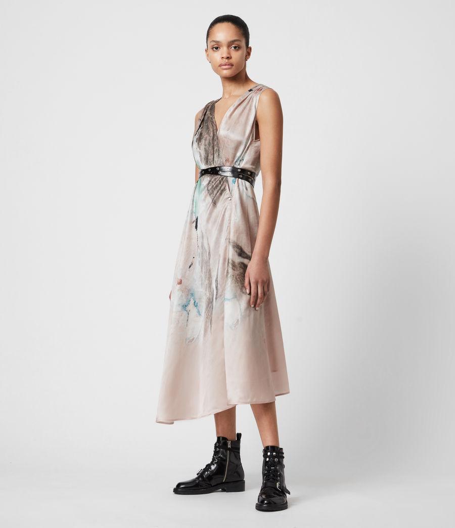 Femmes Diari Cassus Silk Blend Dress (plaster_pink) - Image 1
