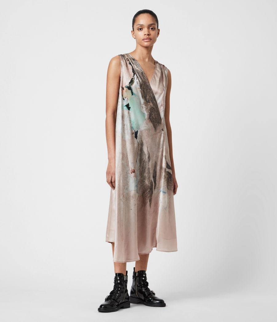 Femmes Diari Cassus Silk Blend Dress (plaster_pink) - Image 7