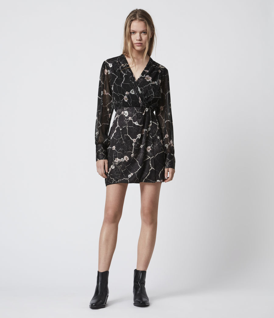 Women's Limina Silk Blend Hope Dress (black) - Image 1
