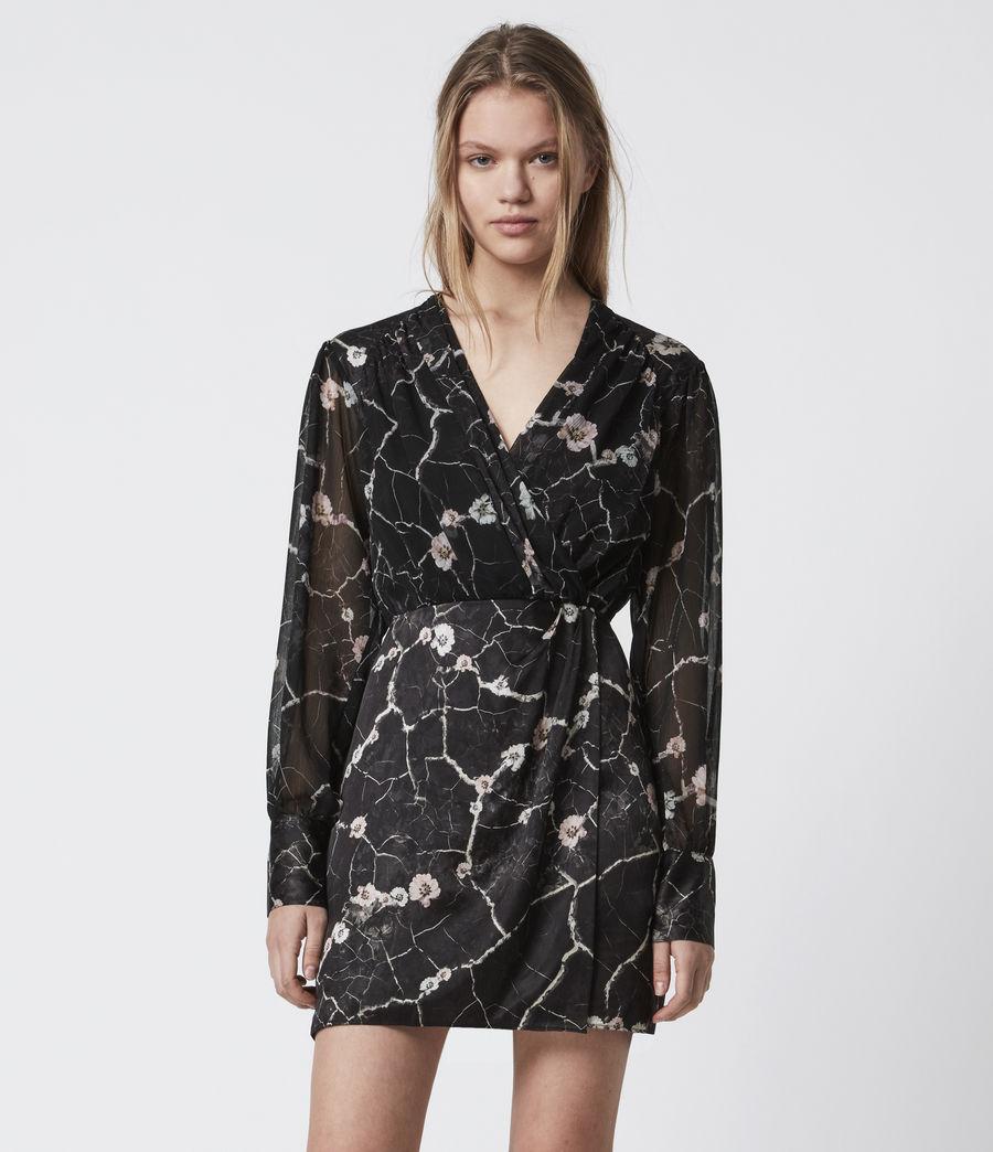 Women's Limina Silk Blend Hope Dress (black) - Image 4