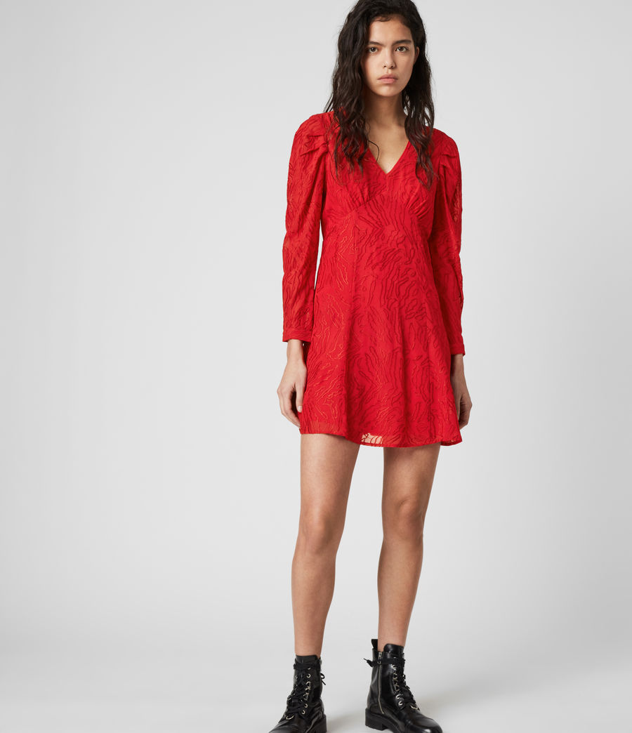 Damen Rosi Ani Kleid (red) - Image 1