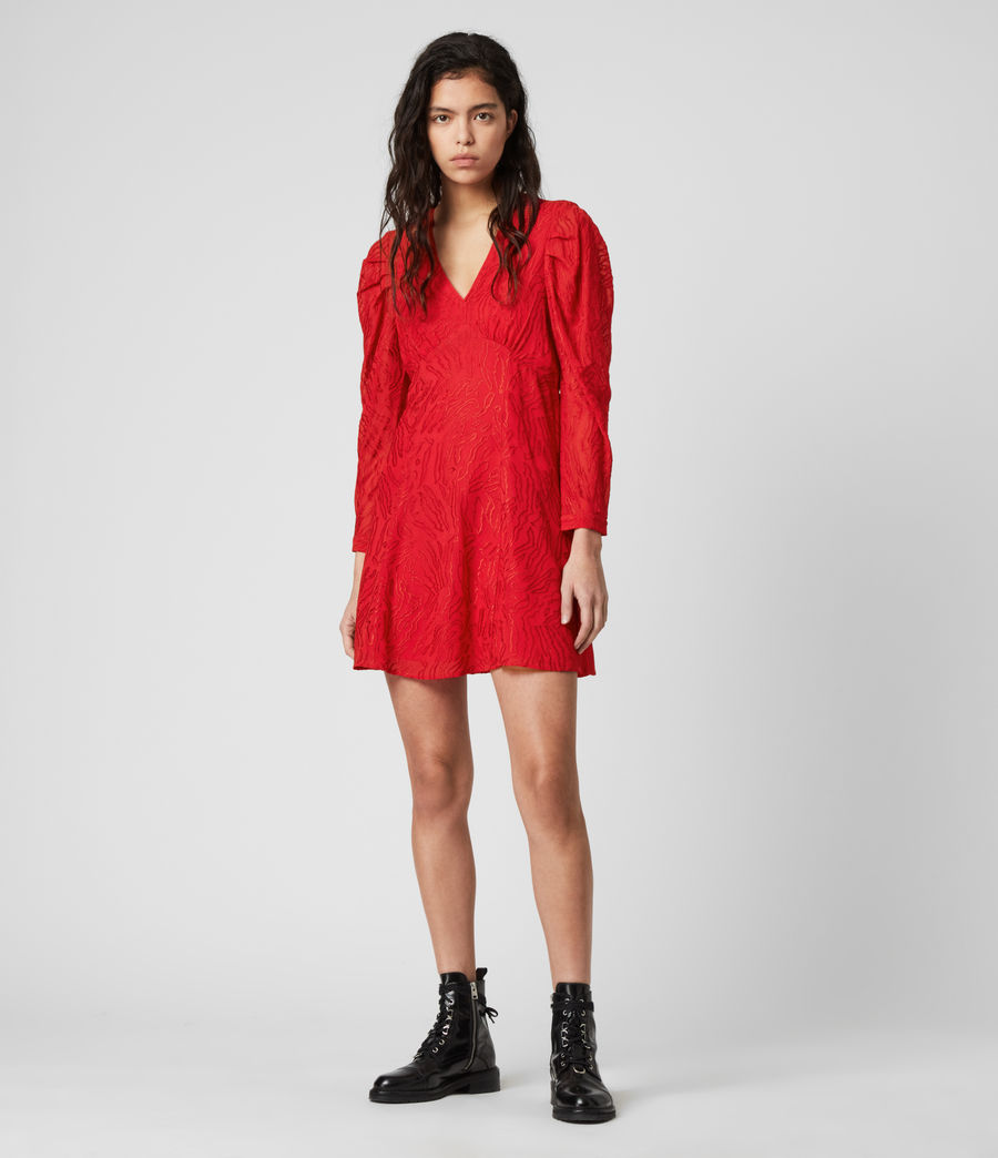 Damen Rosi Ani Kleid (red) - Image 3