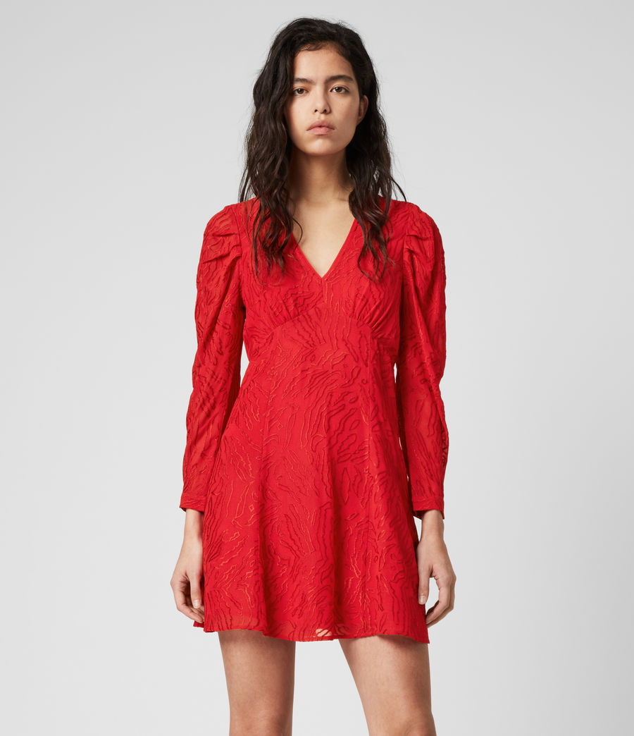 Womens Rosi Ani Dress (red) - Image 4