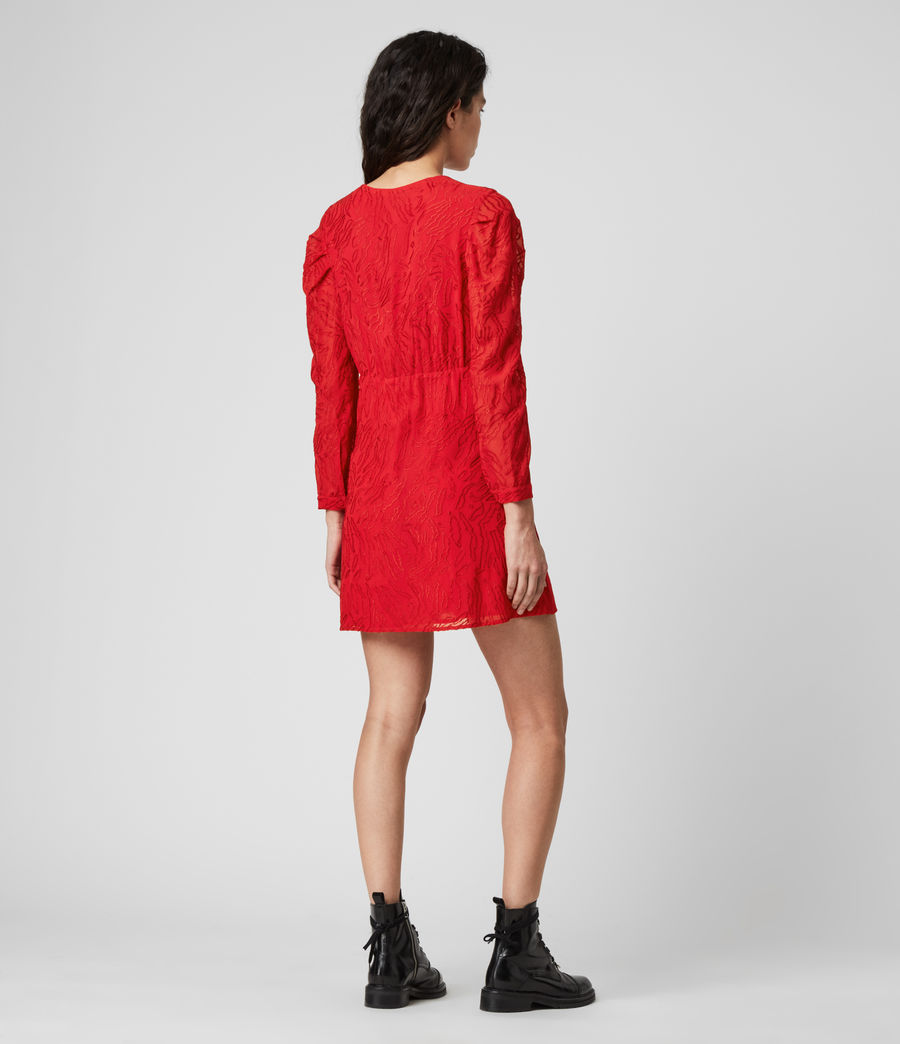 Damen Rosi Ani Kleid (red) - Image 5