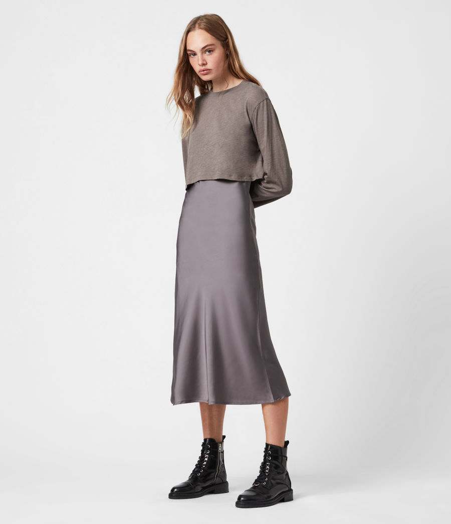 Women's Benno 2-In-1 Dress (mink_grey) - Image 1