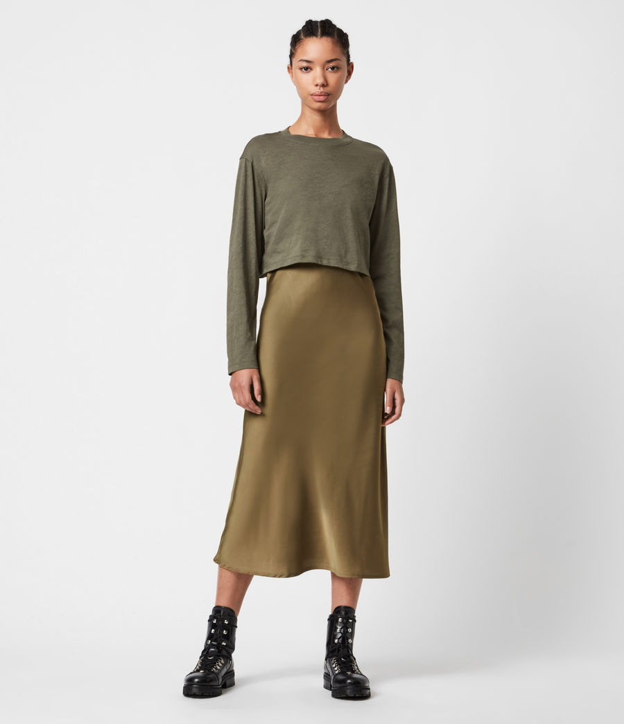 Women's Benno 2-In-1 Dress (pale_olive_green) - Image 1
