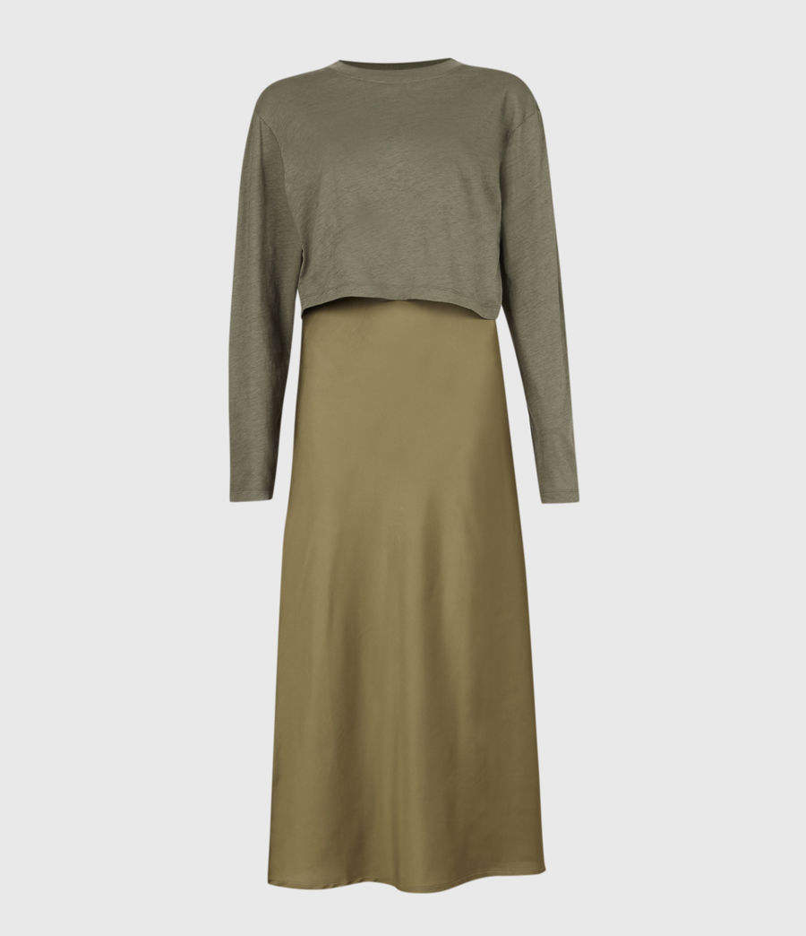 Women's Benno 2-In-1 Dress (pale_olive_green) - Image 5