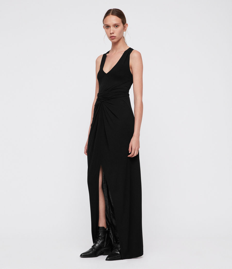 Women's Elke Vi Maxi Dress (black) - Image 1