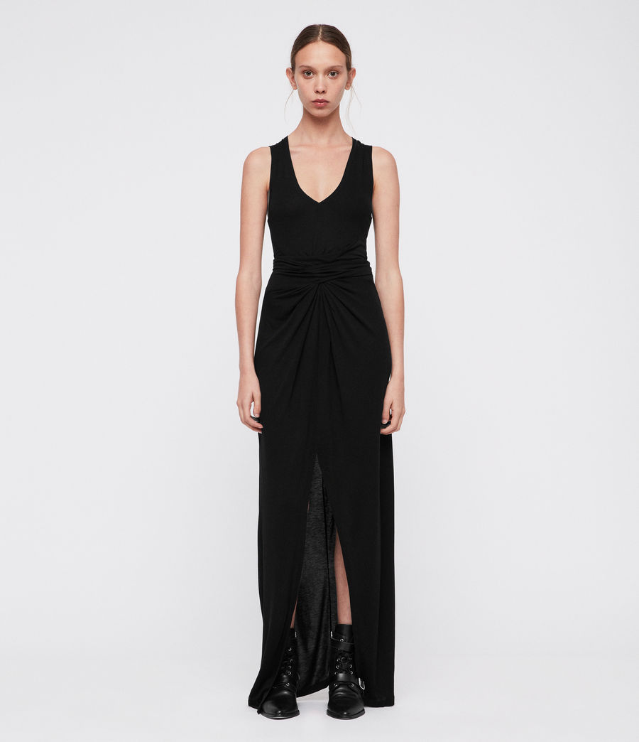 Women's Elke Vi Maxi Dress (black) - Image 3