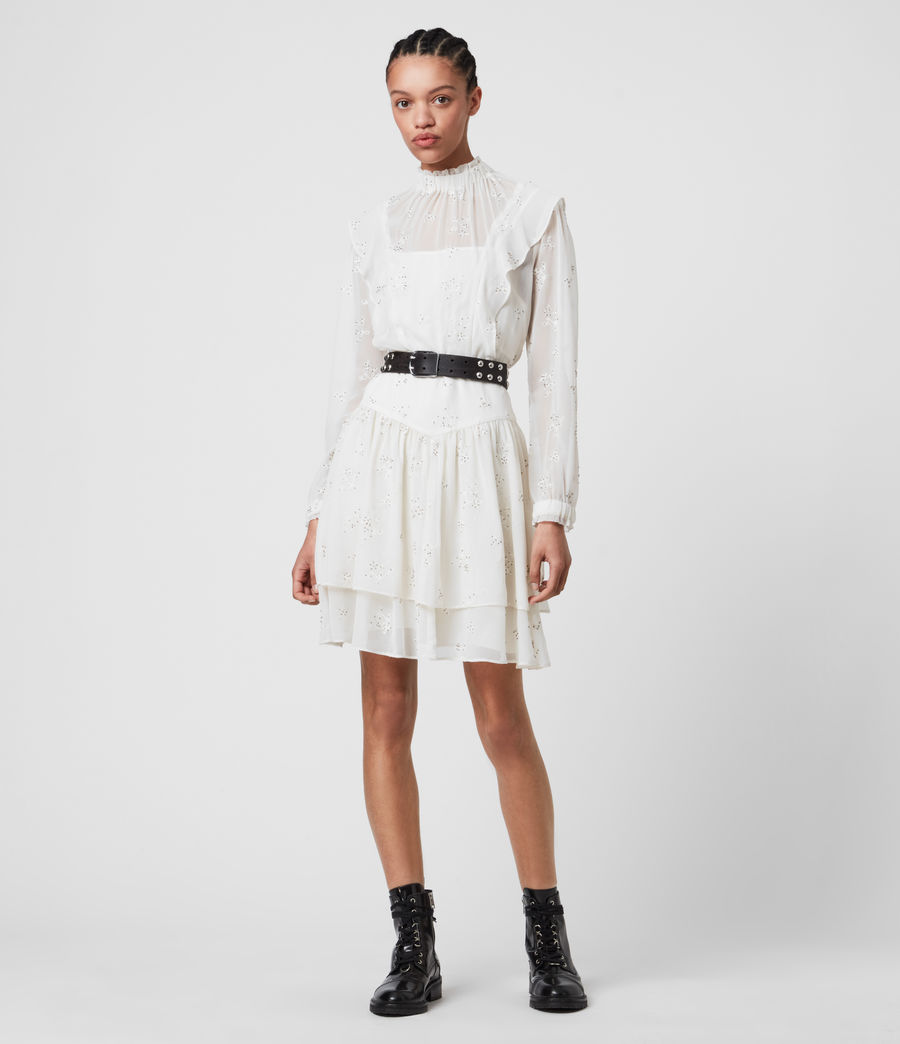 Damen Aislyn Ditsy Dress (chalk_white) - Image 1