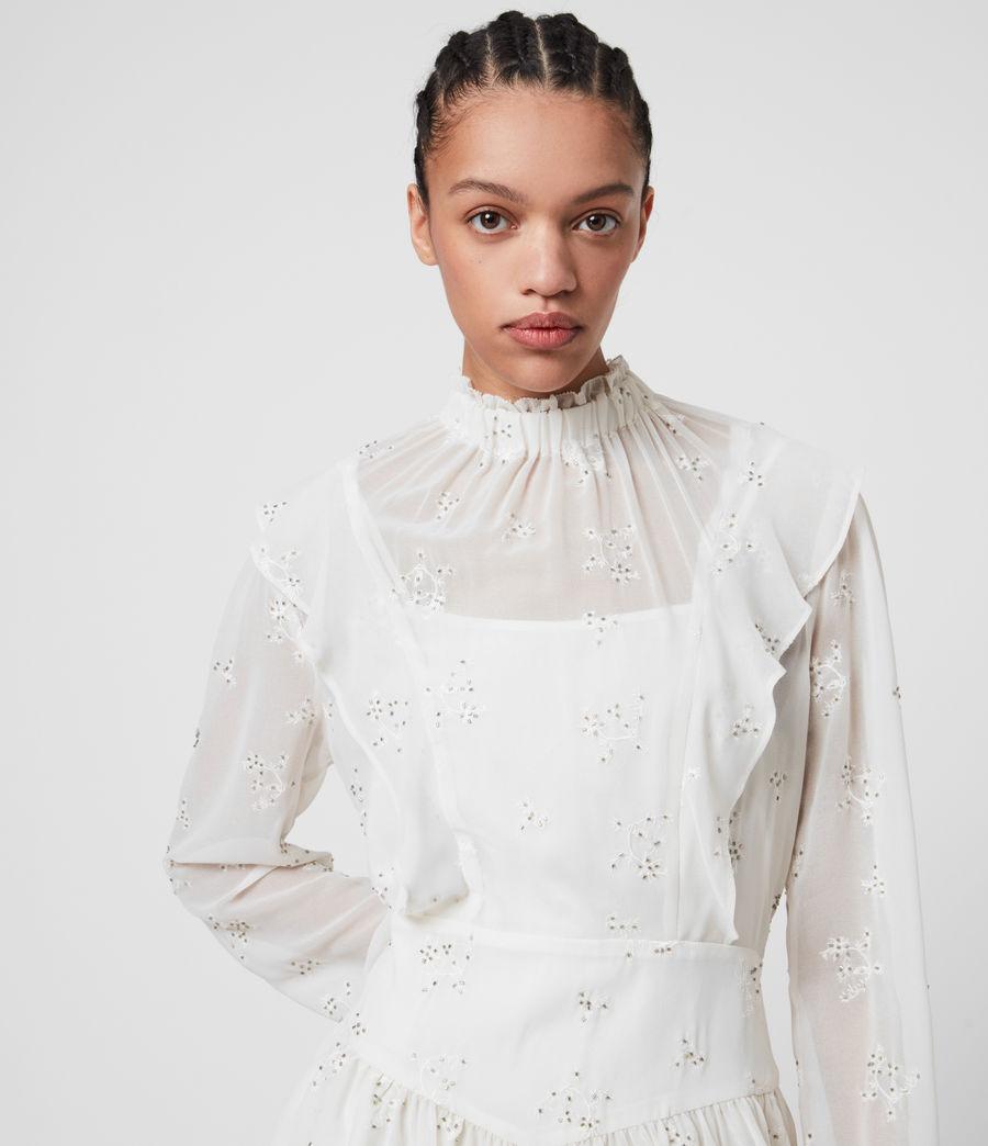 Womens Aislyn Ditsy Dress (chalk_white) - Image 2
