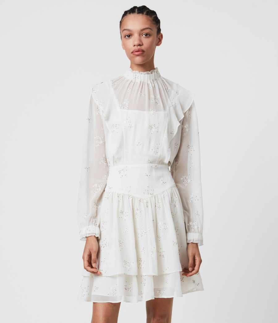 Damen Aislyn Ditsy Dress (chalk_white) - Image 2