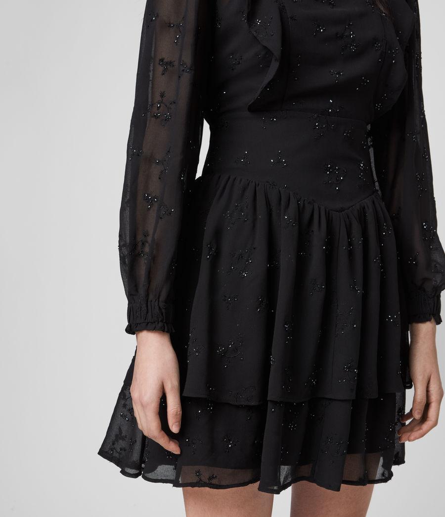 Damen Aislyn Ditsy Kleid (black) - Image 2
