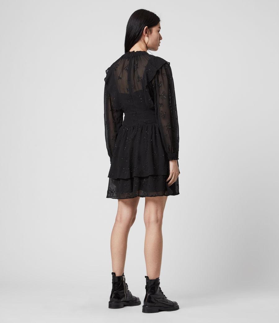 Damen Aislyn Ditsy Kleid (black) - Image 4
