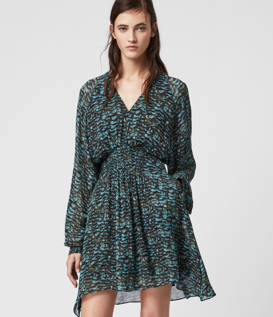 Womens Nichola Plume Dress (opal_green) - Image 1