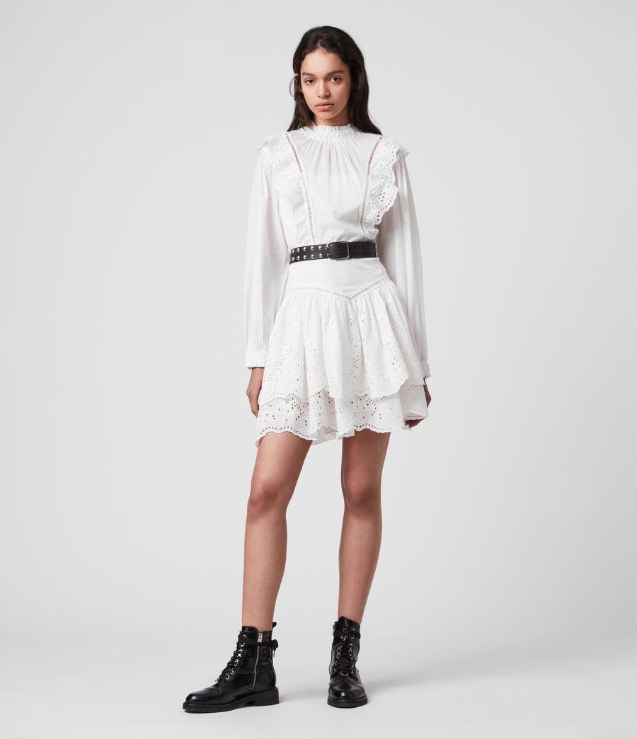 Women's Aislyn Broiderie Dress (chalk_white) - Image 1