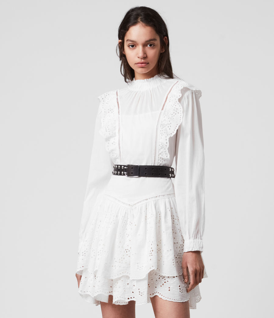 Women's Aislyn Broiderie Dress (chalk_white) - Image 3