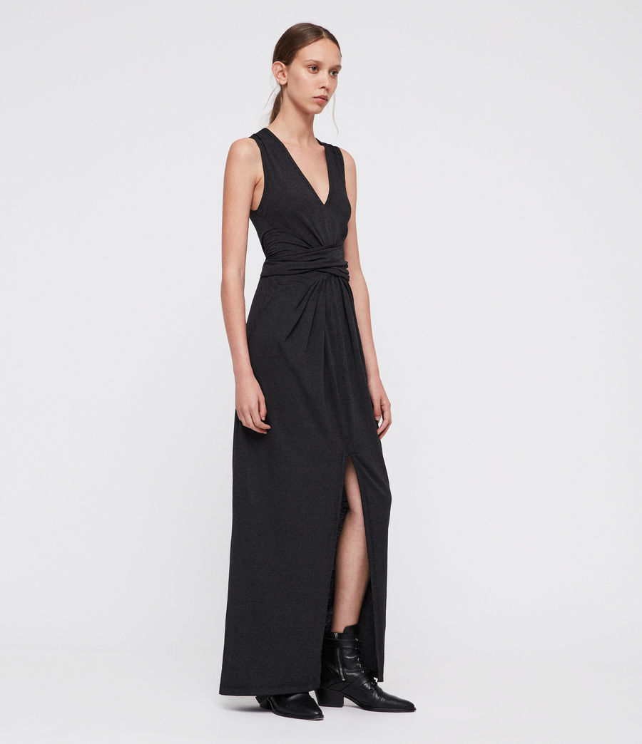 Damen Elke Maxi Kleid (dark_night_blue) - Image 3