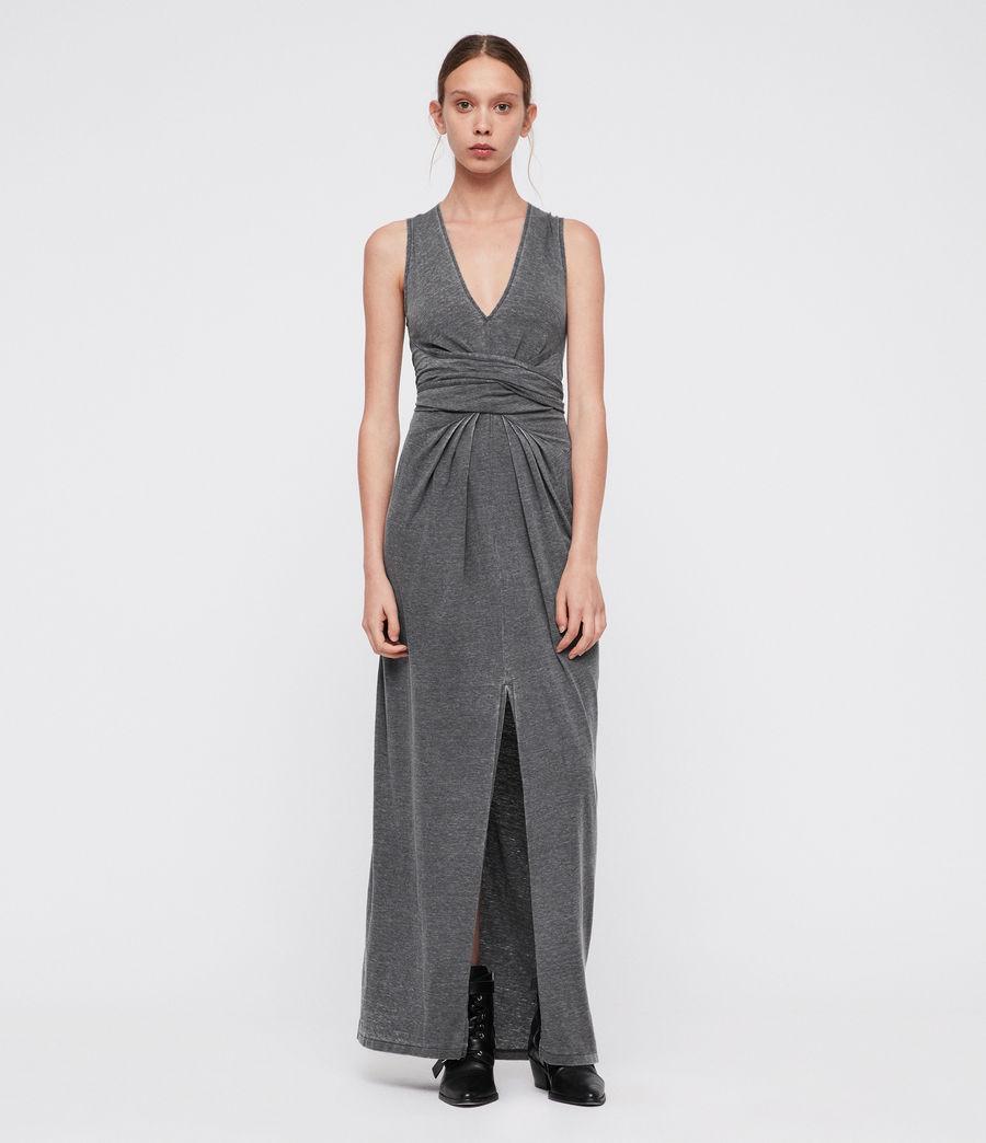 Damen Elke Maxi Kleid (coal_grey) - Image 1