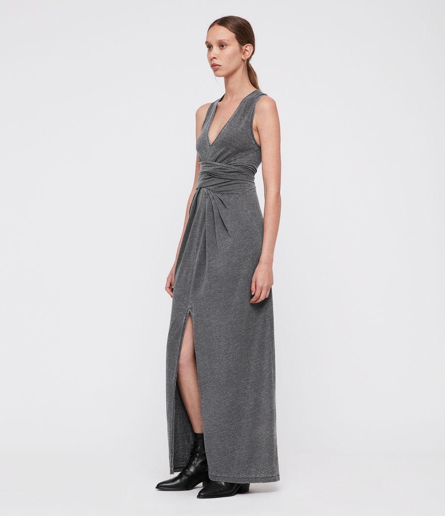 Damen Elke Maxi Kleid (coal_grey) - Image 3