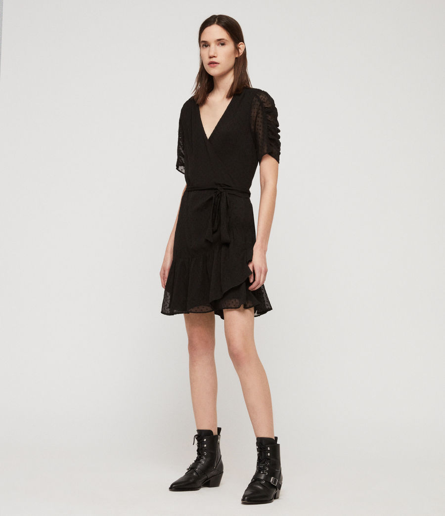 Womens Sienna Dress (black) - Image 2