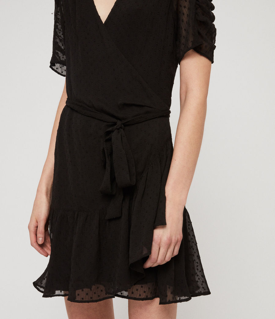 Womens Sienna Dress (black) - Image 4