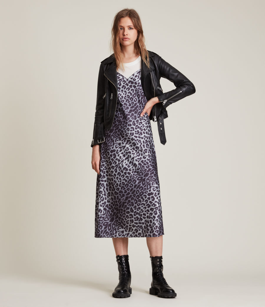 Womens Tierny Leppo Slip Dress (pewter_grey) - Image 3