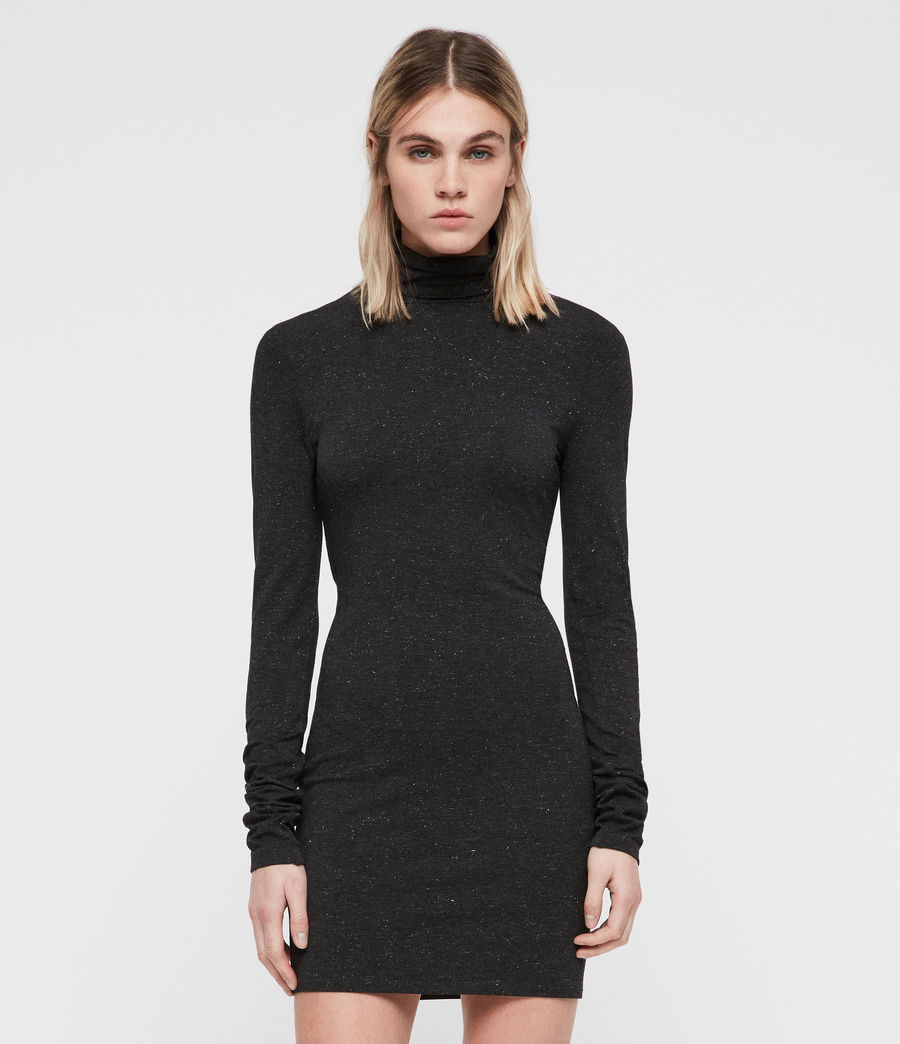 Womens Esme Shimmer Dress (charcoal_marl) - Image 1