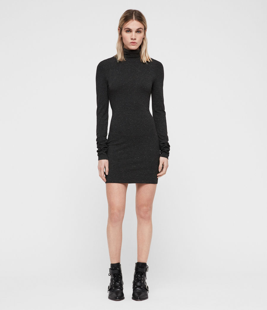 Womens Esme Shimmer Dress (charcoal_marl) - Image 3